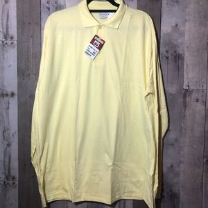Other - Long sleeve yellow polo shirt
